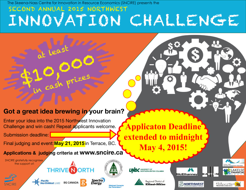 Northwest Innovation Challenge poster May 21 extension